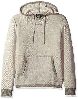 Woolrich Men's Twill Baja Hooded Merino Sweater