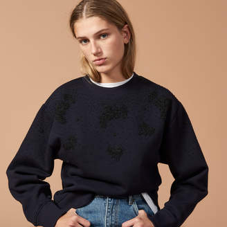 Sandro Sweatshirt embroidered with beads