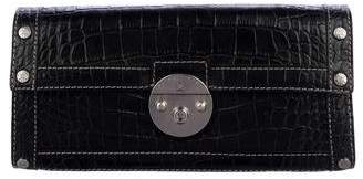 MICHAEL Michael Kors Embossed Leather Flap Shoulder Bag