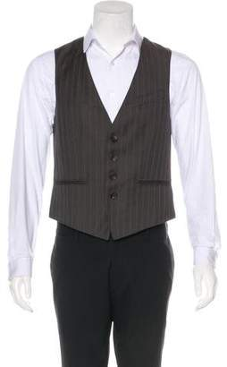 John Galliano Striped Wool Vest