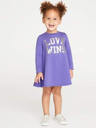 Old Navy Graphic French-Terry Circle Dress for Toddler Girls