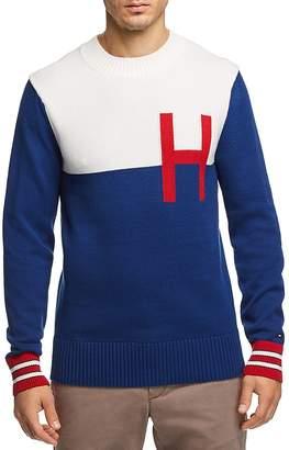 Tommy Hilfiger Color-Blocked Logo Crewneck Sweater