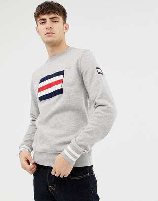 Tommy Hilfiger crew neck flag print sweatshirt