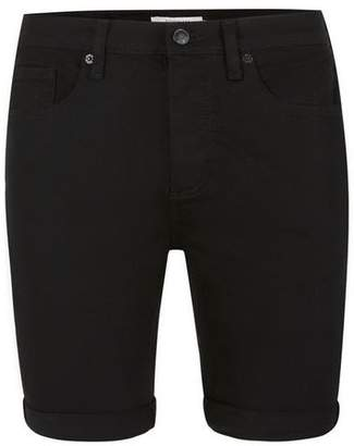 Topman Mens Black Stretch Skinny Denim Shorts