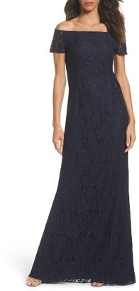 Women's Adrianna Papell Off The Shoulder Gown $219 thestylecure.com