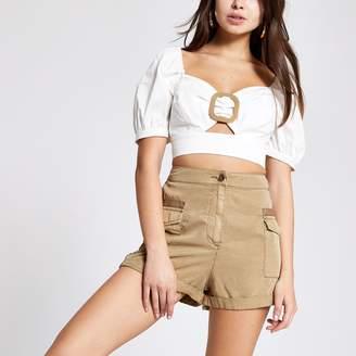 River Island Womens Beige utility shorts