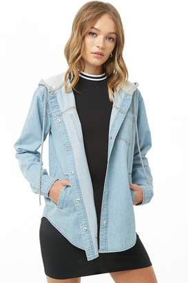 Forever 21 Contrast Denim Jacket
