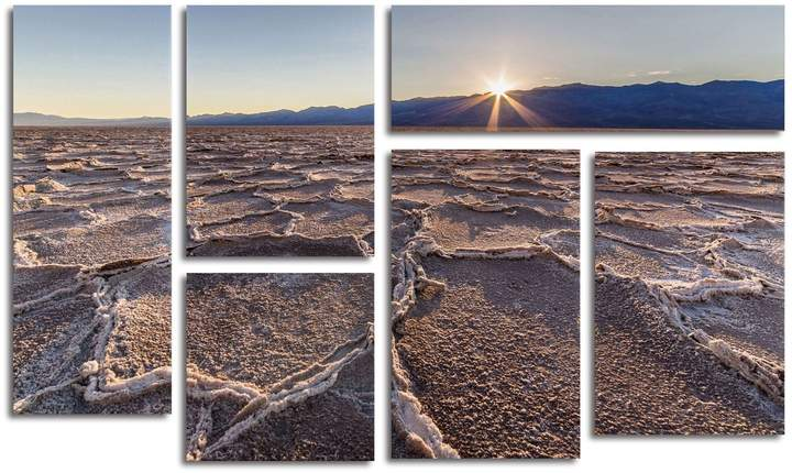 Badwater Sunset Wall Art Set of 6
