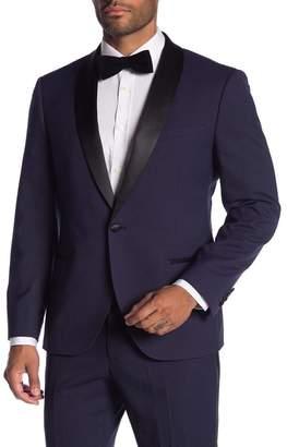 SAVILE ROW CO Varick Purple One Button Shawl Lapel Slim Fit Tuxedo Jacket