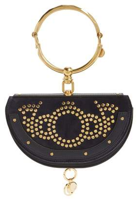 Chloé Small Nile Studded Suede & Leather Convertible Bag