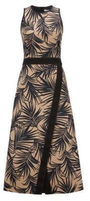 BOSS Hugo Sleeveless dress palm-leaf-print & wrapped skirt 2 Patterned