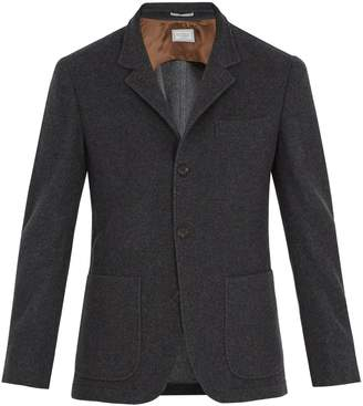 Brunello Cucinelli Patch-pocket brushed-cashmere blazer