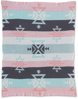 Living Textiles Lolli Living Knitted Cotton Baby Blanket - Aztec