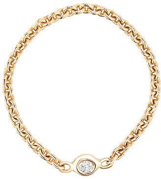 Ariana Rabbani 14K Yellow Gold Diamond Chain Ring