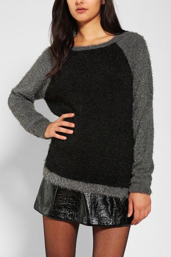 Sparkle & Fade Fuzzy Raglan Sweater