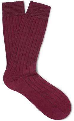 Pantherella Ribbed Cashmere-Blend Socks