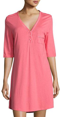 CosabellaCosabella Jersey Half-Sleeve Sleepshirt, Pink/Orange