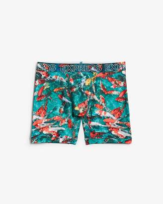 Express Koi Fish Print Performance Boxer Briefs
