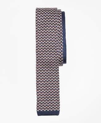 Brooks Brothers Patterned Silk Knit Tie