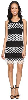 Christin Michaels - Cady Sleeveless Burnout Lace Dress Women's Dress $149 thestylecure.com