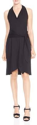 Halston Belted Wrap Dress