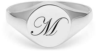 Myia Bonner Initial M Silver Edwardian Signet Ring
