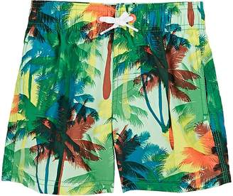 Sundek Kids' Palm-Print Swim Trunks
