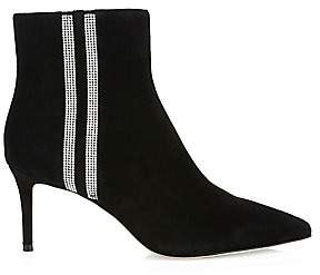Alice + Olivia Women's Flossly Embellished Suede Ankle Boots