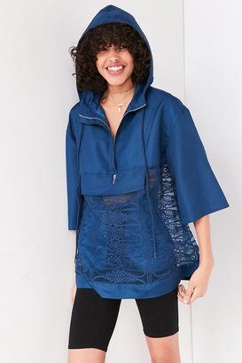 Kimchi Blue Mixed Lace Popover Windbreaker Jacket $99 thestylecure.com