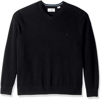 Original Penguin Men's Big-Tall Men's Big and Tall Honeycomb V-Neck Sweater Sweater