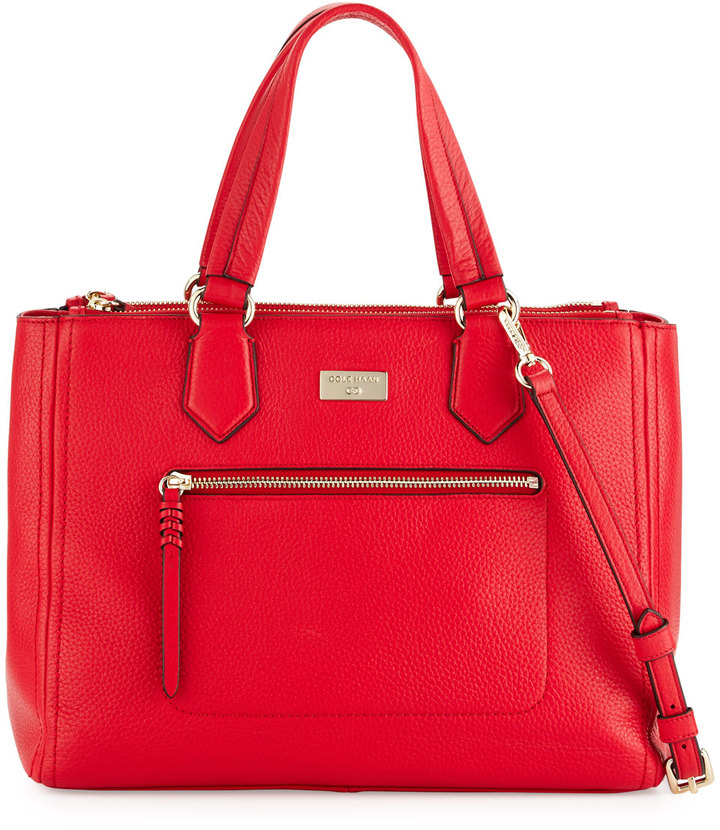 Cole Haan  Cole Haan Ellie Leather Satchel Bag, True Red
