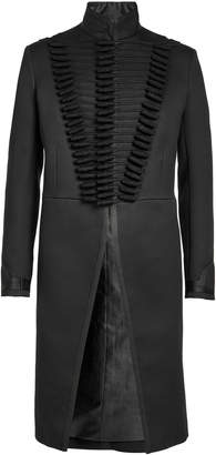 Alexander McQueen Military Coat with Cotton and Silk
