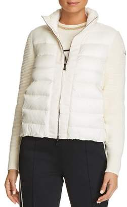Moncler Mixed Media Puffer Vest Jacket