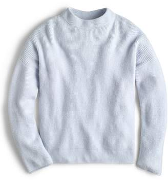 J.Crew Point Sur Button Back Waffle Sweater