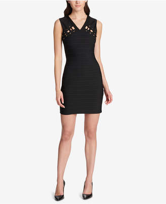 GUESS Lace-Up Bandage Bodycon Dress