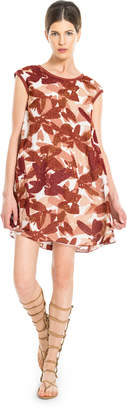 Max Studio printed textural swing dress