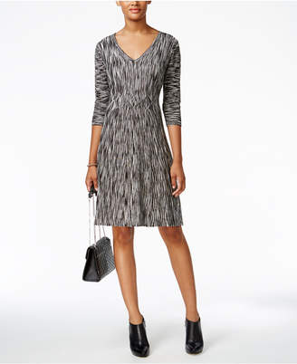 Connected Space-Dyed Fit & Flare Sweater Dress