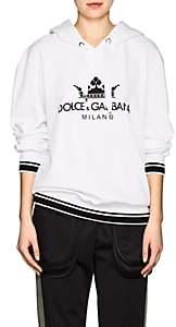 Dolce & Gabbana Women's Logo Cotton Terry Hoodie - White