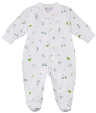 Kissy Kissy Daddy's Caddy Printed Zip-Front Footie Playsuit, Size Newborn-9M