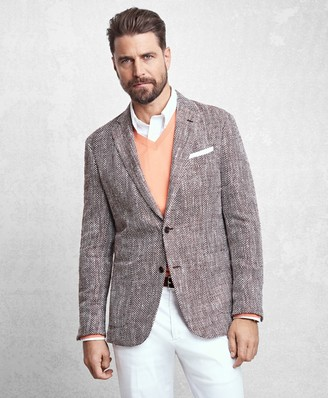Brooks Brothers Golden Fleece Herringbone Sport Coat