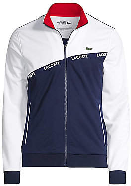 Lacoste Men's Tape Tricot Logo Track Jacket