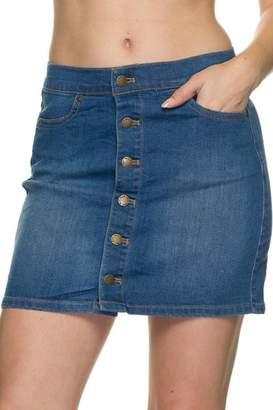 2ne1 Apparel Buttondown Denim Skirt