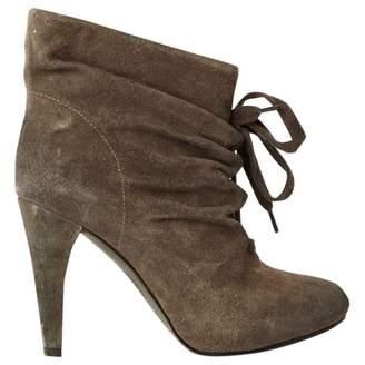 Ash Grey Suede Ankle boots