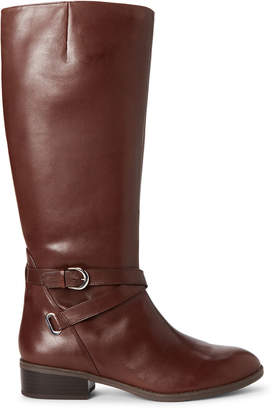 Lauren Ralph Lauren Dark Brown Maribella Leather Tall Boots