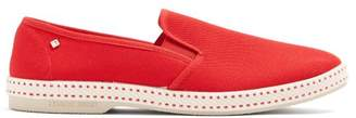 Rivieras - Classic 10 Canvas Loafers - Mens - Red