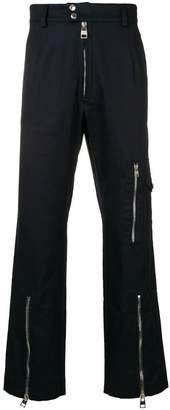 Alexander McQueen zip-detail trousers