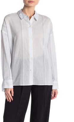 Theory Lourah Striped Button Front Shirt