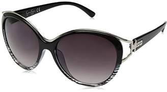 Jessica Simpson Women's J5384 OX Non-Polarized Iridium Oval Sunglasses