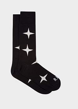 Paul Smith R.E.M. + Men's Black Star Socks