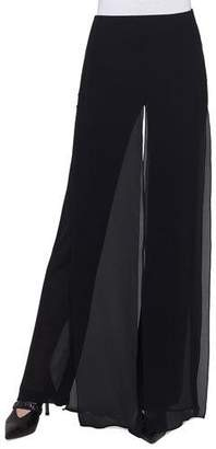 Akris Double-Layer Georgette Wide-Leg Pants